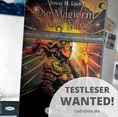 Fantasyroman Tad Time #11 für Testleser