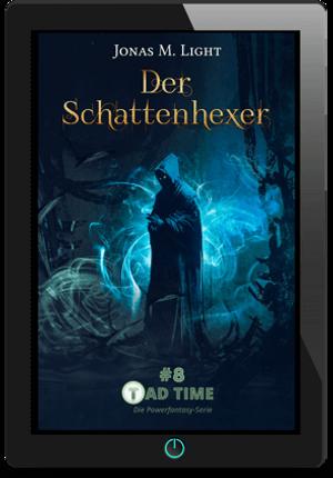 Taschenbuch-Cover Fantasy Roman TAD TIME Episode 8