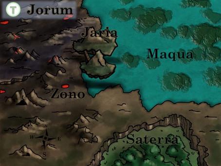 Eine Fantasykarte für Tad Time: So ist die Welt entstanden