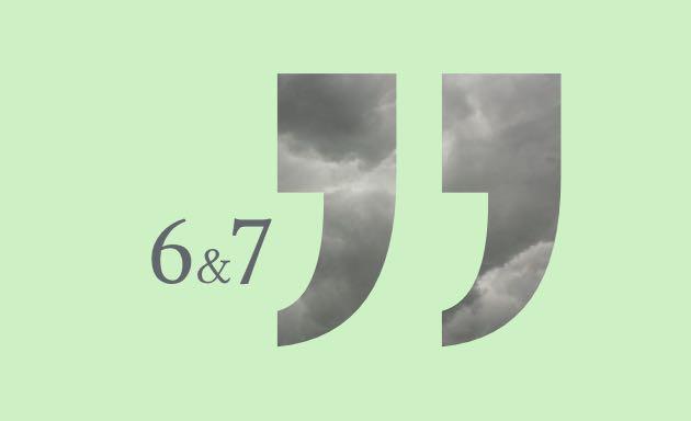 Tad Time #6 & #7 im Lektorat - Anführungszeichen auf grünem Hintergrund