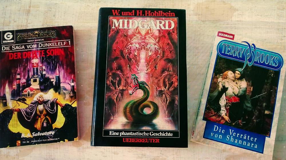 3 Fantasyromane von Wolfgang Hohlbein, Terry Brooks und R. A. Salvatore