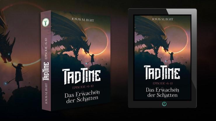 Tad Time Fantasyroman Cover »Das Erwachen der Schatten«