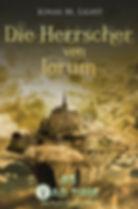 Cover Tad Time #5: Die Herrscher von Jorum. Opulente Stadt mit magischem Schloss in den Wolken.