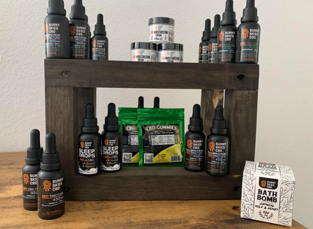 Introducing Sunny Skies CBD products at GNP Massage