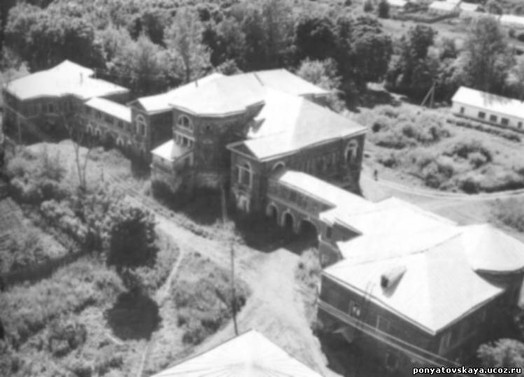 Усадьба Полибино. Вид сверху. Архивное фото