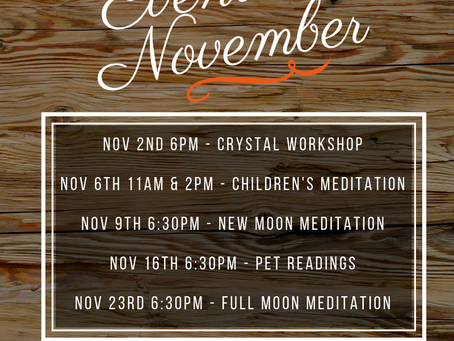 Check out what's happening in November!