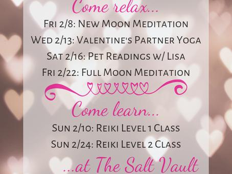 February Salt Vault Events