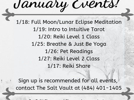 Upcoming Events at The Salt Vault!