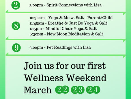 Wellness Events in March!