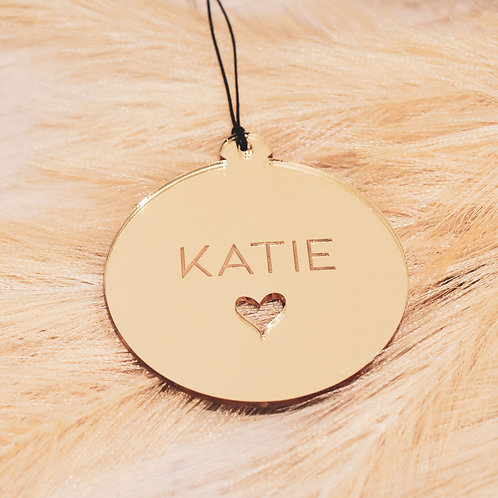 Personalised Heart Cutout - Ornament
