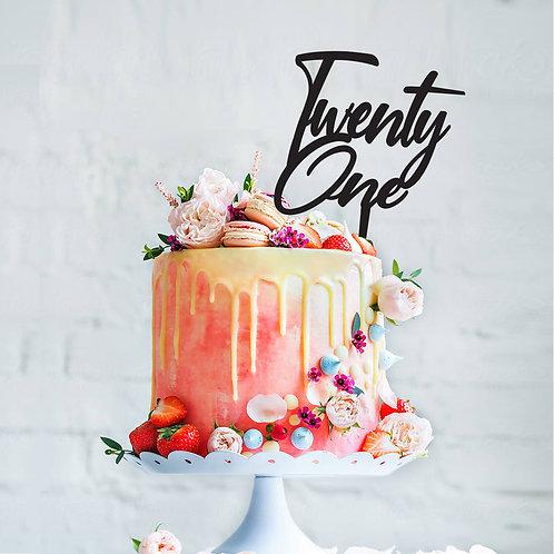 Twenty One - Birthday Cake Topper