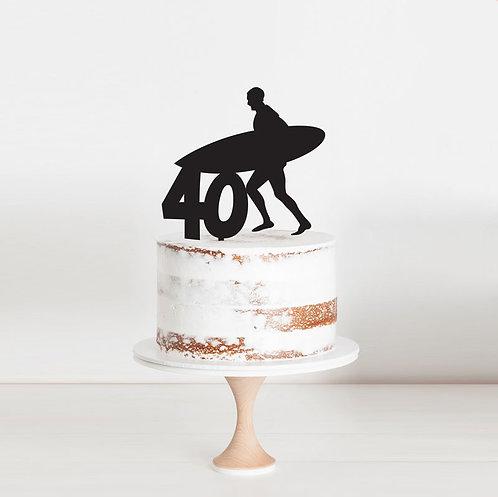 Sufer Age - Custom Cake Topper