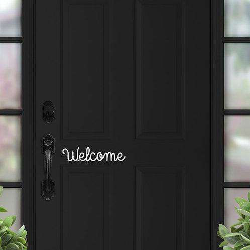 Welcome - Acrylic or Wooden Door Sign