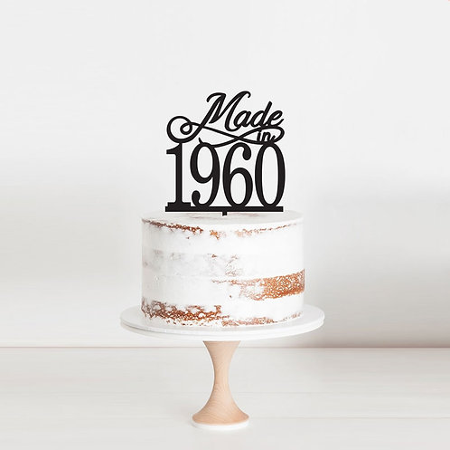 Made in Year - Cake Topper