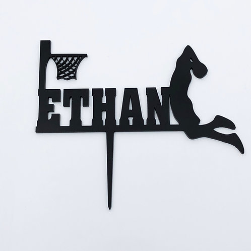 Basketball Themed Cake Topper with Name