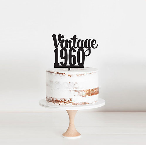 Vintage Year - Cake Topper