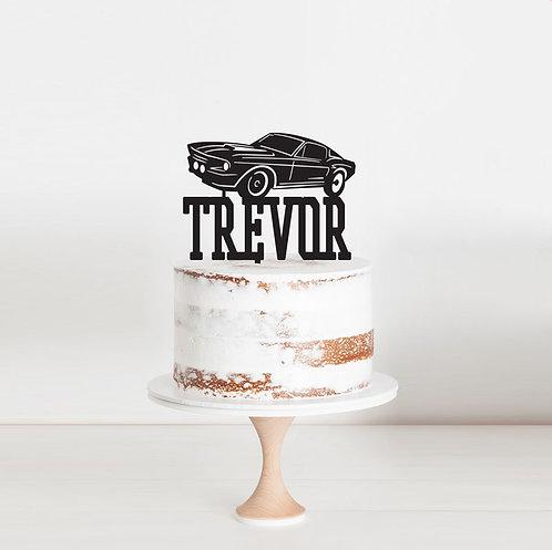 Mustang - Custom Name Cake Topper