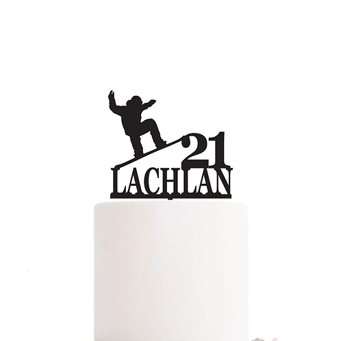 Custom Snowboard - Birthday Cake Topper