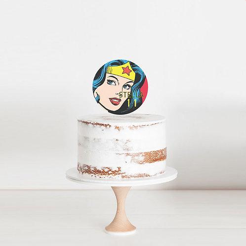 Wonder Woman - Birthday Cake Topper