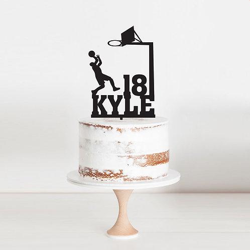 Basketball Shooting Hoops - Cake Topper