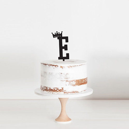 Crown Initial - Cake Topper