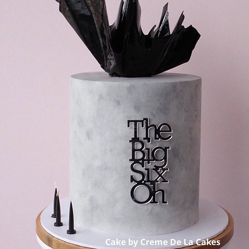 Big Oh - Birthday Cake Topper