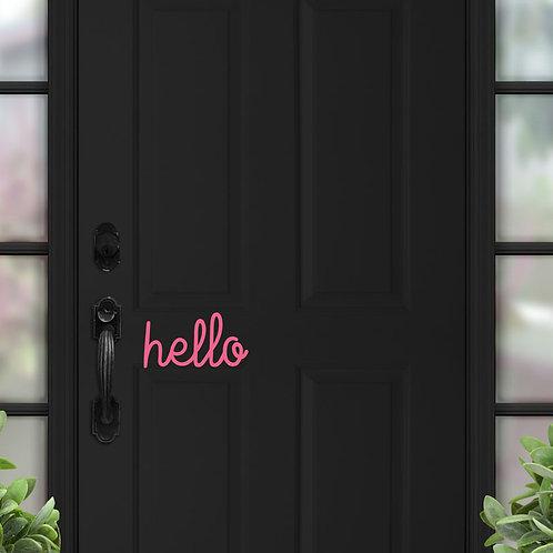 Hello - Acrylic or Wooden Door Sign