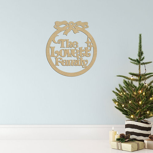 The Christmas Family - Hoop Sign