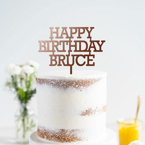 Custom Name - Birthday Cake Topper