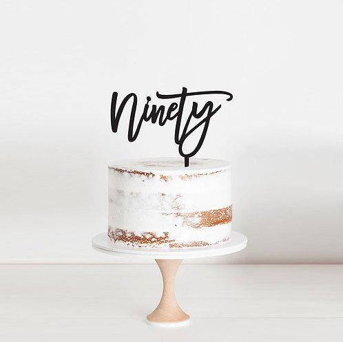 Script Ninety - Cake Topper