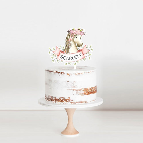 Unicorn Party- Birthday Cake Topper
