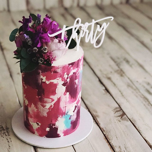 Thirty - Birthday Cake Topper