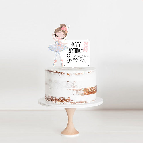Ballerina - Birthday Cake Topper