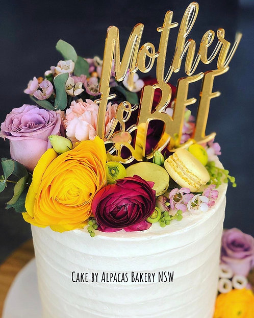 Mother to Bee - Baby Shower Cake Topper