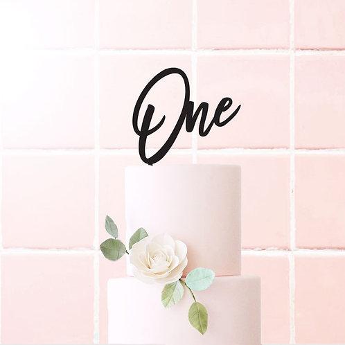 Script One - Cake Topper