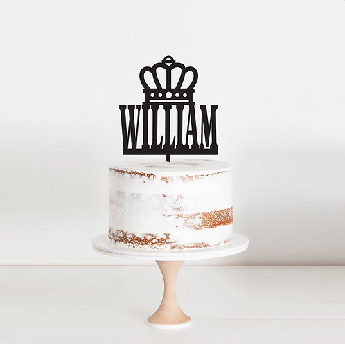 Crown with Custom Name - Cake Topper