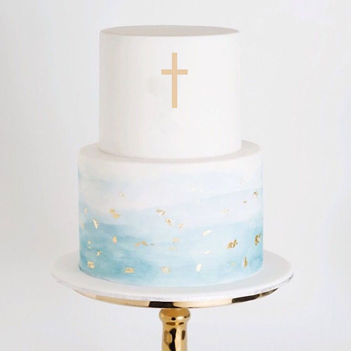 Religious Cross 1 -  Cake Topper
