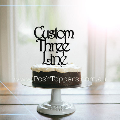 CUSTOM - 3 LINE - Various Fonts