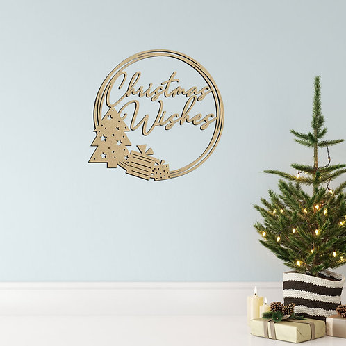 Christmas Wishes - Hoop Sign