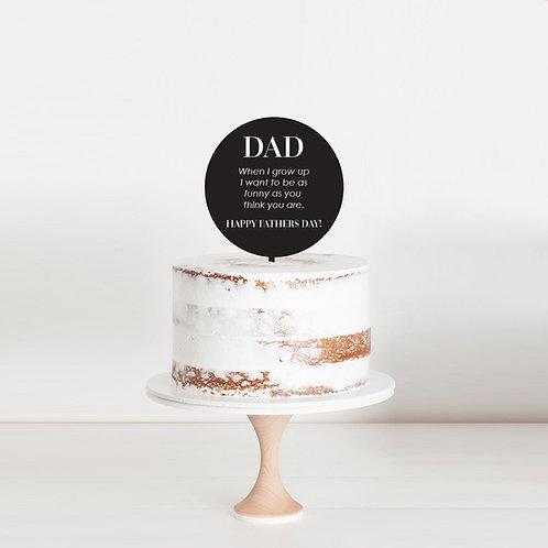Fathers Day Joke - Cake Topper