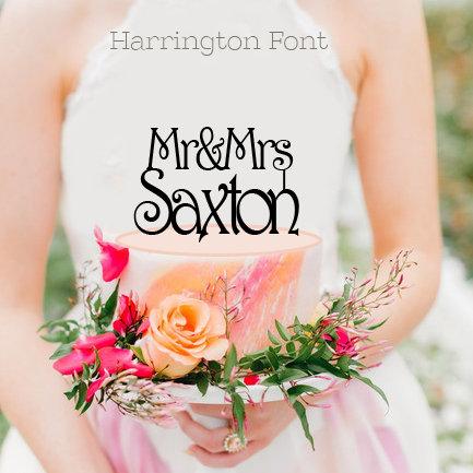Mr & Mrs Custom Surname - Various Fonts