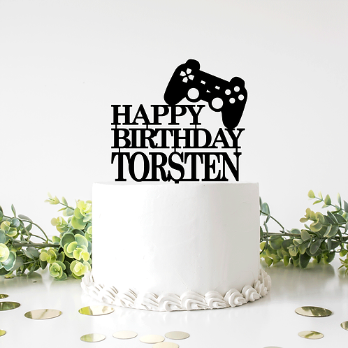 Personalised Gamer Control - Cake Topper