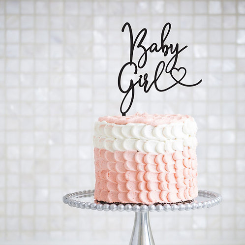 Baby Girl with Heart - Cake Topper