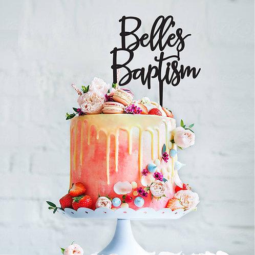 Script Name Baptism - Cake Topper