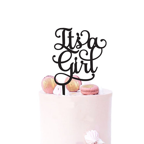 Its a Girl - Baby Shower Cake Topper