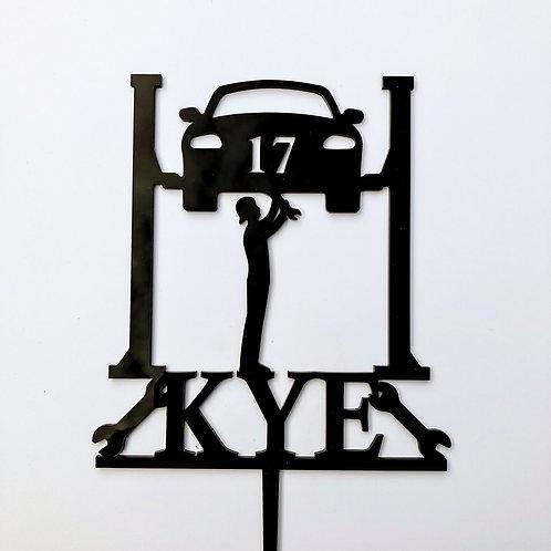 Mechanic Car Hoist Custom Name / Age