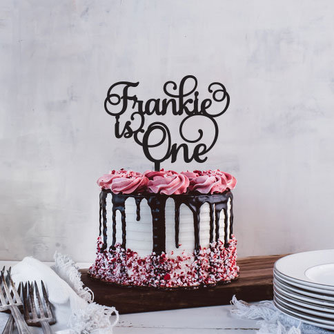 Name is One - First Birthday Cake Topper
