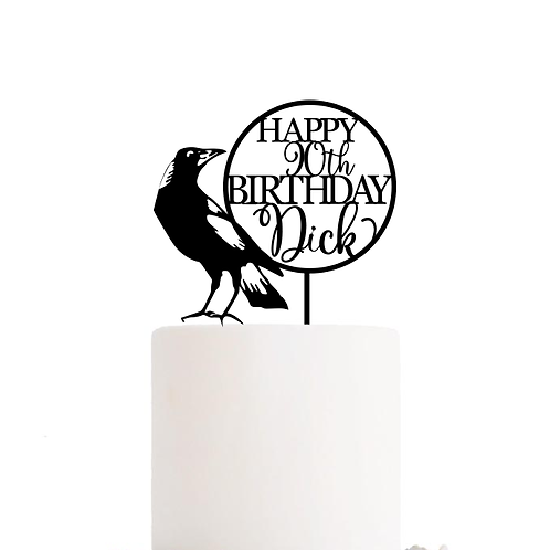 Collingwood Football AFL - Birthday Cake Topper