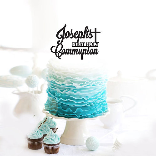 First Holy Communion with Custom Name - Cake Topper