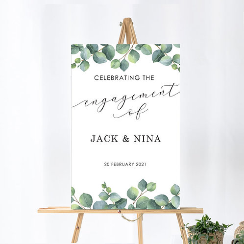 Engagement - Welcome Board - Eucalyptus